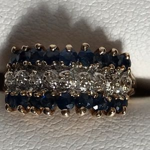 Jewelry - 10K SAPPHIRE & DIAMOND RING